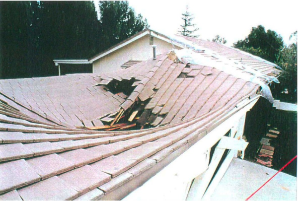 Earthquake damaged concrete roof   Metal Roof Network