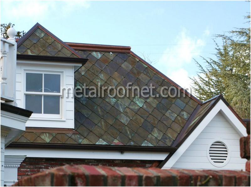 copper diamond shingles | Metal Roof Network