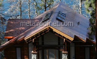 copper diamond shingles   Metal Roof Network