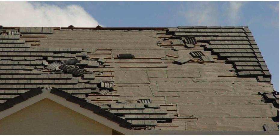 Damage Concrete Roof