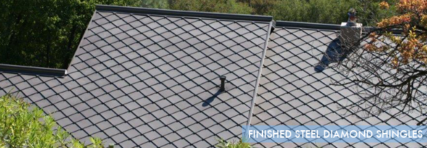 finished steel diamond shingles | Metal Roof Network