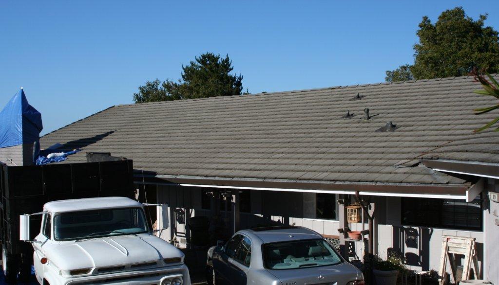 failing concrete roof