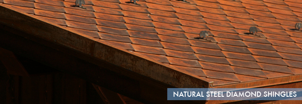 natural steel diamond shingles | Metal Roof Network