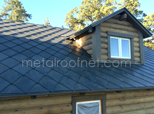 Rustic Metal Roofing For A Log Home
