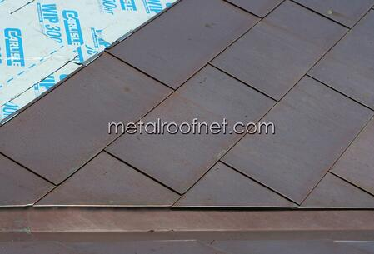 MRN custom copper flatlock roofing