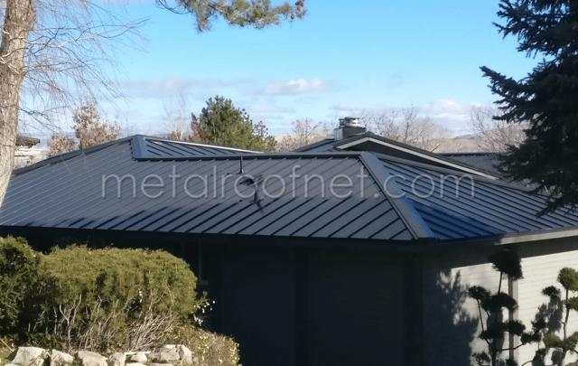 A Matte Black Roof In Reno Nevada
