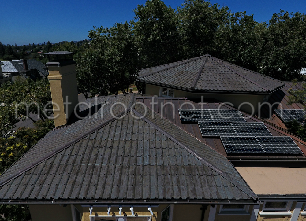 Pre-Aged Copper Roofing & Solar Panels